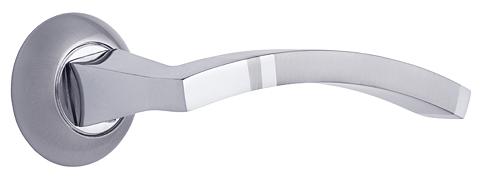 Комплект ручек КОМО ITAROS PREMIUM ручка на круглой розетке белый никель/хром SN/CP