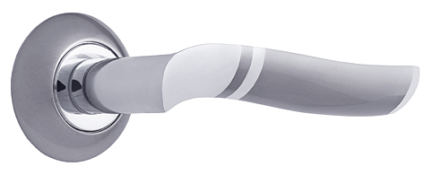 Комплект ручек ЛОМБАРДИЯ ITAROS PREMIUM PLUS ручка на круглой розетке никель/хром SN/CP