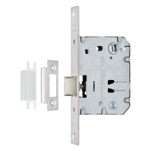Защелка сантехническая PVC ITAROS 70х50 белый никель SN