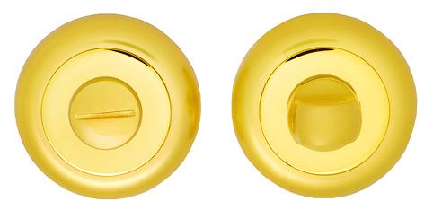 Завертка сантехническая ITAROS на круглой розетке матовое золото/золото SG/GP